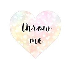 Wedding Throw Me Heart Pink Wedding Confetti Stickers Favor Toss Me Sticker AC46