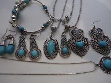 Women Turquoise Jewellery  Pendant Charm Necklace Bracelets  Earrings Jewelry