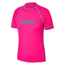 NEW Speedo Logo Sun Shirt / Rashie 77Y73/5542 - Hot Pink - Girls Swimwear