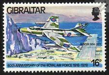 Raf Hawker Hunter F. 6 aviones a reacción avión Sello de menta (Gibraltar)