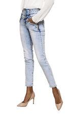 Women's High waist skinny slim stretch Jeans Trousers Light Blue Sizes UK 6-14