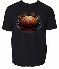 BASKETBALL BALL T Shirt NBA MEN BLACK SIZE S-3XL