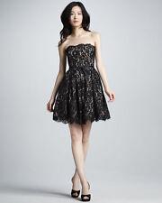 Neiman Marcus Target Robert Rodriguez Lace Strapless Party Cocktail Black Dress