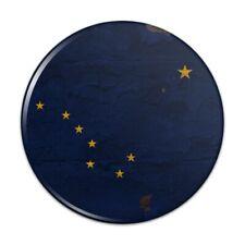 Rustic Alaska State Flag Distressed USA Pinback Button Pin Badge