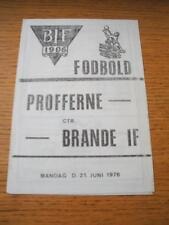 16/11/1975 Boldklubben 1903 v Esbjerg  (Single Sheet). No obvious faults, unless