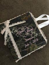 Personalized Camo Camouflage Wedding Bridal Picture Photo Album Bride Groom