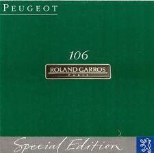 Peugeot 106 Roland Garros 1.4i Limited Edition 1993 UK Market Sales Brochure