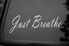 Just Breathe Vinyl Sticker Decal (V94) Wellness Inspiration Yoga Meditation Car