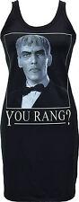 LADIES BLACK DRESS 'YOU RANG?' LURCH ADDAMS FAMILY GOTH HORROR MONSTER S-XL