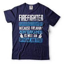 Firefighter T-shirt Funny Fire Fighter Tee Shirt
