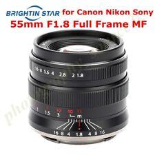Brightin Star 55mm F1.8 Camera Lens MF fr Canon EOSR Nikon Z-Mount Z6 Z7 Sony A7