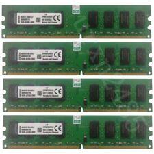 8GB (4x 2G) / 1G PC2-5300 DDR2-667 NON ECC Desktop Intel PC RAM For Kingston LOT