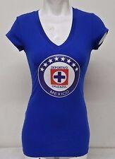 dafd99d39 Cruz Azul FC Women s V-neck T-Shirt 100% Cotton Slim Fit Cut