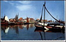 Edam VOLENDAM Holland ~1950/60 Partie Hafen mit Booten