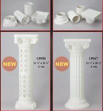Large Standing Roman Greek Pillars Columns Rubber Shatterproof Garden Wedding