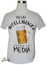 T-SHIRT frase spiritosa  maglia  divertente simpatica cotone flambè birra unisex