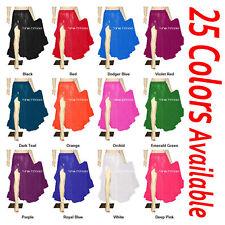 TMS Multi Ruffle Slit Full Circle Skirt Belly Dance Tribal Jupe Robe Flamenco