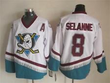 White Mighty Ducks Ice Hockry Jerseys 8 SELANNE Ice Hockey Jersey Stitched