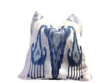 Robert Allen Khander Ikat Pillow Cover in Indigo
