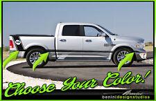 Dodge Ram 1500 2500 3500 ALL YEARS 2/4 DOOR Side Racing Rumble Bee Stripes