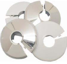 15MM Radiator Pipe Collars White or Chrome, Plastic Covers, Multiple Pack Sizes