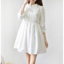 Women Kawaii Princess Japanese Sweet Lolita Girl Lace White Vintage Dress Retro