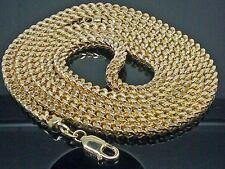 10K Gold Thick Franco Lobster Lock Chain 5mm Width 40 Inch Long Men's Jewlery