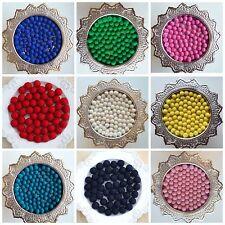 Choose or Mix  2cm Pom Pom Felt Balls Nursery Craft supplies Garland making