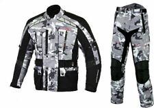 WATERPROOF WINDPROOF TOURING URBAN MOTORCYCLE BIKE CAMO ARMY JACKET SUIT TROUSER