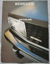 Renault 20 range Brochure Pub.No. 29.114.07