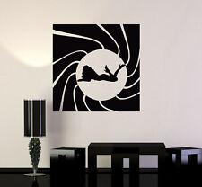 Vinyl Wall Decal Sexy Secret Agent James Bond Spy Silhouette Art Mural (ig5009)