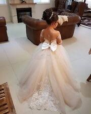 Flower Girl Dress Pageant Easter Graduation Princess Wedding Bridesmaid Dresses