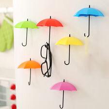 3PCS Nail Storage Hanger Wall Holder Key Hook Home Organizer Umbrella Design