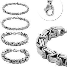 Pulsera 22cm rey cadena de acero inoxidable tanques cadena plateados señores joyas señora