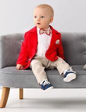 Abito vestito da battesimo maschietto completo da cerimonia rosso beige cod 2064