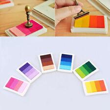 Multi Color Sponge Ink Pad Scrapbook Albums Gradient Stamp Set Inkpad Craft DIY