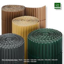 PVC Sichtschutzmatte Sichtschutzzaun Sichtschutz für Zaun Balkon Windschutz