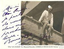 Autograph Autografi Foto scritto e firma Maurice Chevalier 1952