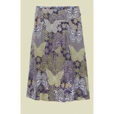 Ladies Ex White Stuff Butterfly Bird Floral Print Reversible Summer Skirt