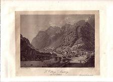 Pälin Amstäg Amsteeg Schweiz Gotthard Uri Aquatinta 1830 Gotthardstrasse