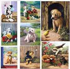 Choisissez parmi 16 Chiens Chats Chatons Chiots peinture par numéro kits de peinture acrylique
