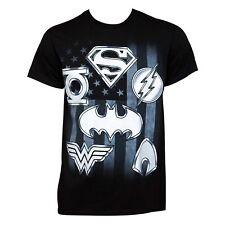 DC Comics Justice League Logos Graphic T-Shirt