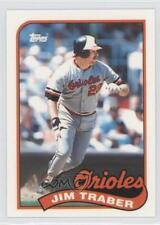 1989 Topps Box Set Collector's Edition (Tiffany) #124 Jim Traber Baseball Card