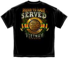 Vietnam Veteran T Shirt Military Army Navy Air Force Marines POW MIA Tee S-3XL