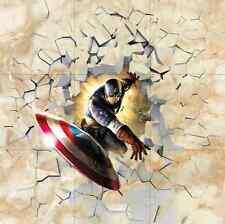 3D Captain America Floor WallPaper Murals Wall Print Decal 5D AJ WALLPAPER