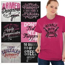 Ladies Gun Owner Rights Tee Shirt Pro 2nd Amendment Bear Arms NRA Womens Tshirts