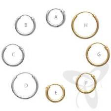 Ohrringe Creole 925 Sterling Silber oder VERGOLDET EINZEL/PAAR Ohrhänger Kinder