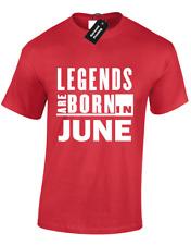 Le LEGGENDE nascono in giugno Da Uomo T Shirt Cool Divertente IDEA. regalo compleanno