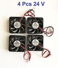 4 Pcs 24V 50mm Cooling Computer Fan 5010 50x50x10mm DC 3D Printer 2-Pin