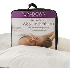 Puradown 100% Australian Wool Reversible Underblanket Underlay Topper All Size